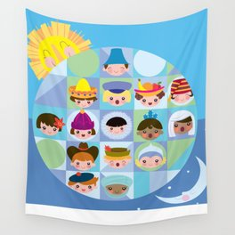 small world Wall Tapestry