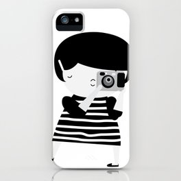 The brunette photographer iPhone Case