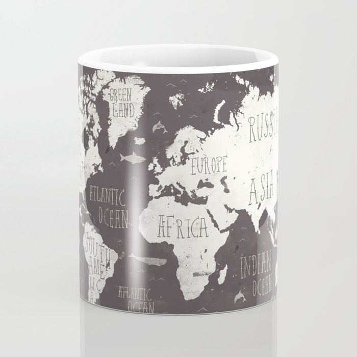The World Map Coffee Mug