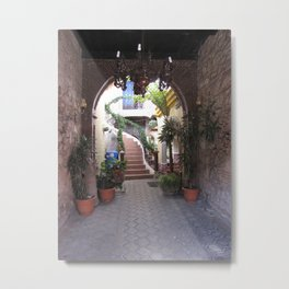 Enticing Hotel Entrance Metal Print