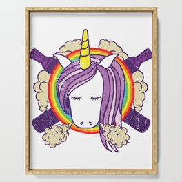 Cloud Chaser - Vaping Unicorn Serving Tray