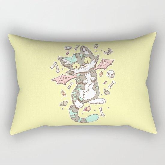 Monster Cat Rectangular Pillow