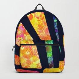 Boho Vintage Rainbow Sunshine Glowing Floral Backpack