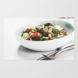Healthy vegan energy boosting salad Rug