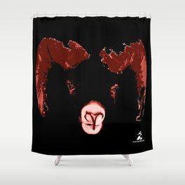 Aries - Fire of the Ram Shower Curtain