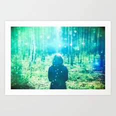 Green Forest Magical Path - This is how fairy tales begin. Art Print