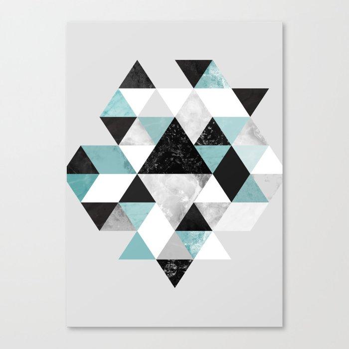 Graphic 202 Turquoise Canvas Print
