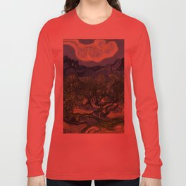 "Vincent van Gogh ""Olive Trees with the Alpilles in the Background"" Long Sleeve T-shirt"