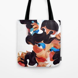 Daughter and Mother Children's Book Illustration Tote Bag