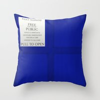 tardis Throw Pillows featuring TARDIS by Danyul