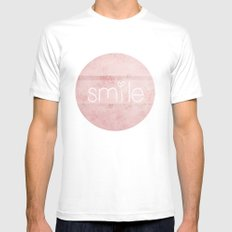 smile White Mens Fitted Tee MEDIUM