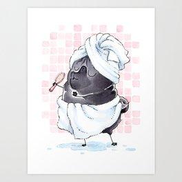 Bath Pugs: Singer Art Print