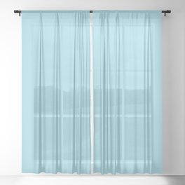 COOL WATER LAKE pastel solid color Sheer Curtain