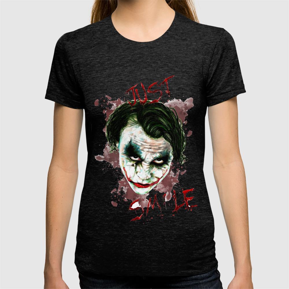 1a9c4851 Heath Ledger's Joker! T-shirt by miikesarda   Society6