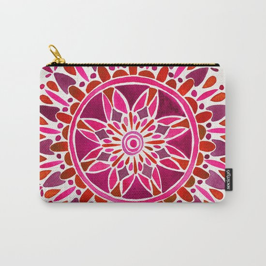 Magenta Mandala Carry-All Pouch