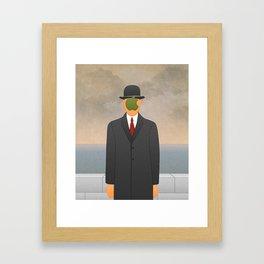 Magritte x Apple Framed Art Print