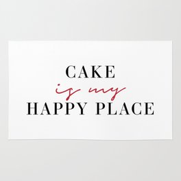Cake is My Happy Place Rug