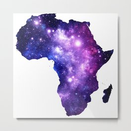 Africa : Purple Blue Galaxy Metal Print