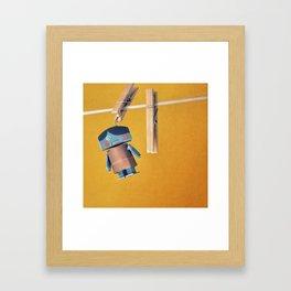 cornelious clothes pin Framed Art Print