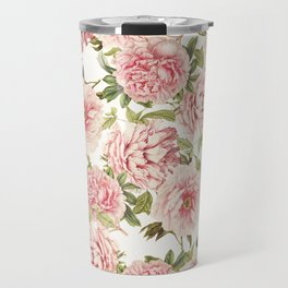 old fashioned peonies Travel Mug