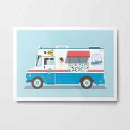 Ice Truck Metal Print