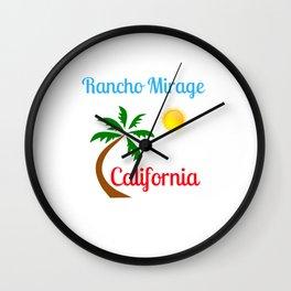 Rancho Mirage California Palm Tree and Sun Wall Clock