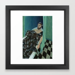 TODAY I FELL ASLEEP IN A BATH OR HAIR  Framed Art Print
