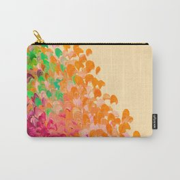 CREATION IN COLOR Autumn Infusion - Colorful Abstract Acrylic Painting Fall Splash Ombre Ocean Waves Carry-All Pouch