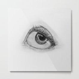 Cartoon Eye Metal Print