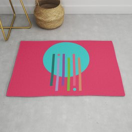Classic Guitar Colorful Abstract Rug