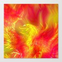 phoenix Canvas Prints featuring Phoenix by Paula Belle Flores
