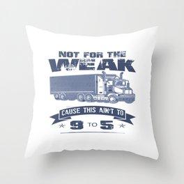 TRUCKER DRIVER Throw Pillow