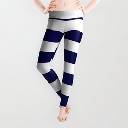 Navy Blue & White Stripes- Mix & Match with Simplicity of Life Leggings