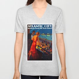 Atlantic City New Jersey Travel Unisex V-Neck