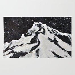 Mount Hood and Stars Rug