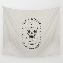 """Te Amo New Mexico"" sugar skull badge (day) Wall Tapestry"