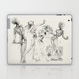 Vintage poster-Salvador Dali-Graphic sketch. Laptop & iPad Skin