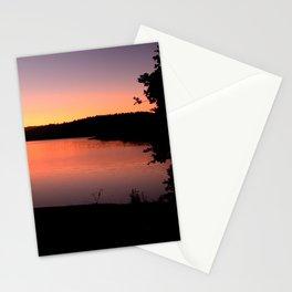LAKE HENNESSEY - NAPA CALIFORNIA - SUNSET REFLECTION Stationery Cards