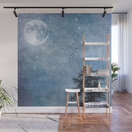 Moon lit flight Wall Mural