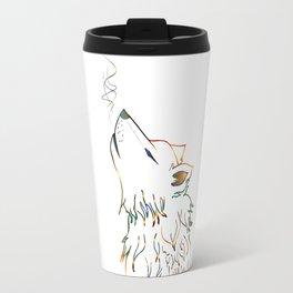 Lone wolf sketch Travel Mug