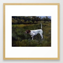 English Pointer in the Field Framed Art Print