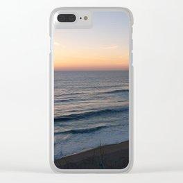 Golden Horizon Clear iPhone Case