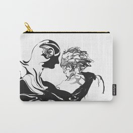 Secret-1.Black on white background. Carry-All Pouch