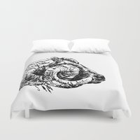 ram Duvet Covers featuring Ram by Ingrid Restemayer