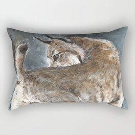 Canadian Lynx in Winter Rectangular Pillow