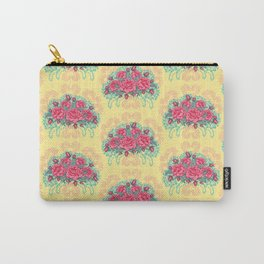 Petit Rose Bouquet Carry-All Pouch