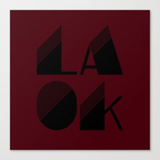 LA OK Canvas Print