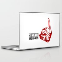 gundam Laptop & iPad Skins featuring Mobile Suit Gundam Unicorn - Sinanju by Nanico