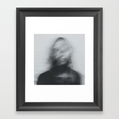 Vague Woman Framed Art Print