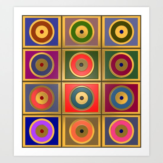 Rectangles & Circles #3 by rockettgraphics